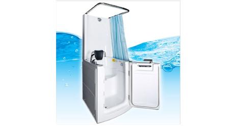 sitzbadewanne mit einstiegst r und dusche unbeschwertes baden. Black Bedroom Furniture Sets. Home Design Ideas