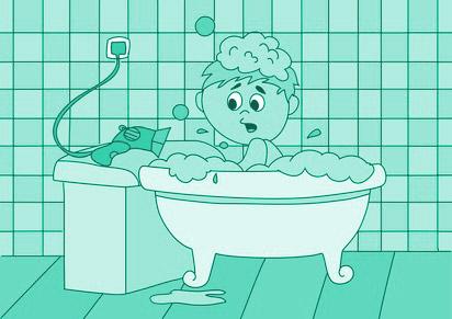 Gefahr Badewanne Fön