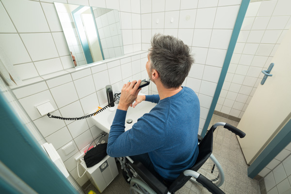 Behindertengerechtes Waschbecken